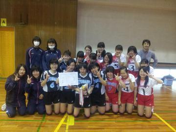 女子バレーボール部の写真
